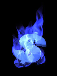 Blue Money Burning